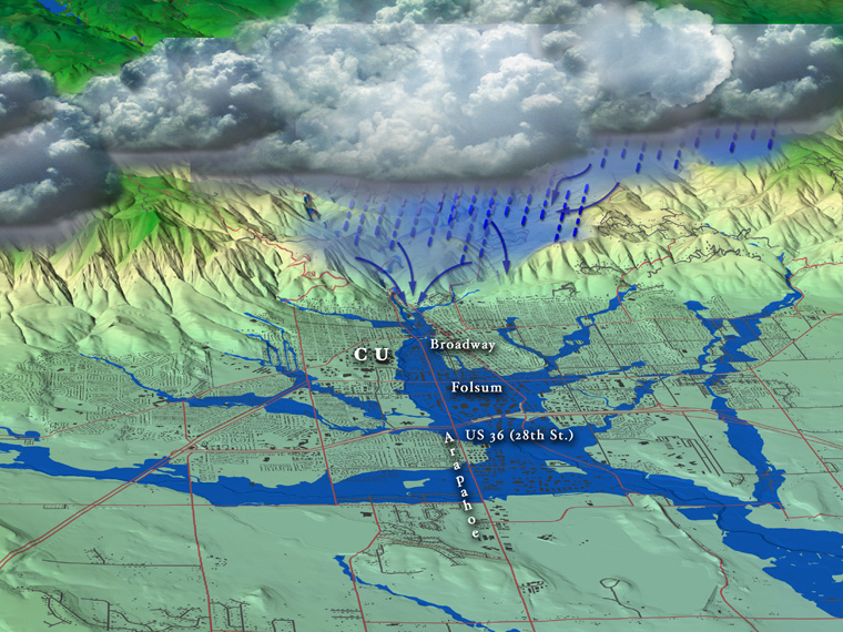 Boulder Creek Floodplain Map - Boulder colorado on a map of us